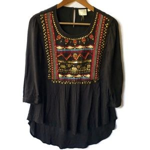 Anthropologie HD in Paris Embroidered Blouse 4